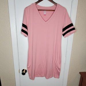 Dusty Pink Tshirt Dress